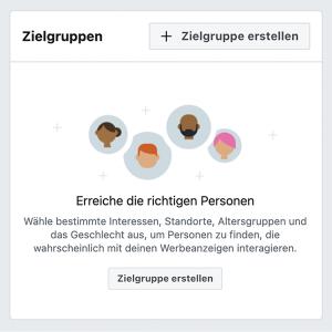 Zielgruppe bei Facebook-Anzeigen