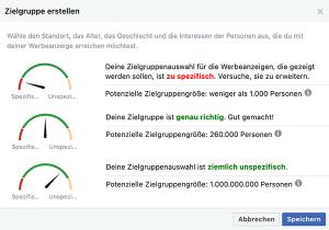 Zielgruppe bei Facebook-Anzeigen: Potenzial
