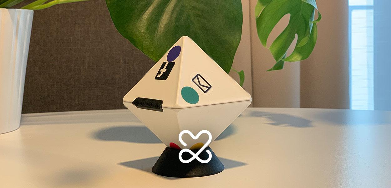 Oktaeder zur Zeiterfassung von Timeular